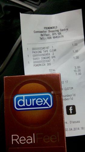 Durex Real Feel condoms £1 @ poundworld