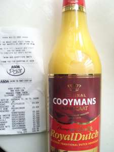 Cooymans Royal Dutch Advocaat reduced to £4 @ Asda (from £8.50) Instore
