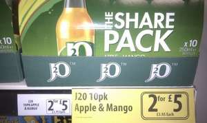 20 bottles of J2O for £5 (25p each) at Farmfoods or 22.5p each with downloadable coupon