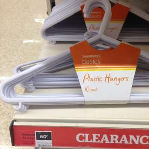 10 pack of clothes hangers only 60p @ Sainsbury's instore