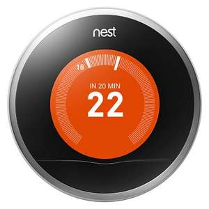 Nest Learning Thermostat-John Lewis £179.00 plus free installation and 2yr guarantee