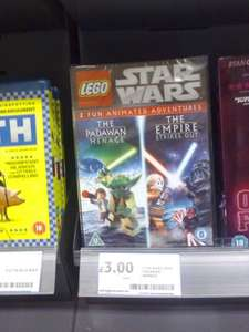 LEGO Star Wars: The Padawan Menace / The Empire Strikes Out Double Pack DVD £3 instore at tesco
