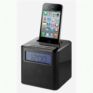 Red 9015 Alarm Clock Radio iPhone Dock - Sainsburys £10.49 was £34.99