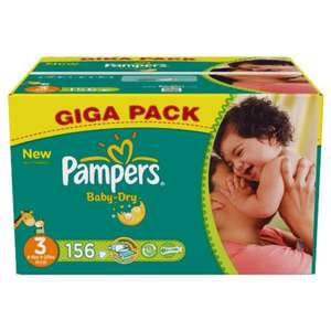 156 Pampers baby dry size 3 £8.99 @ costco
