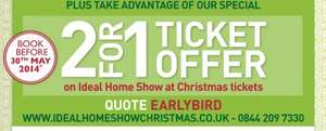 Ideal Home Christmas Show November 2014 - Tickets 2 For 1