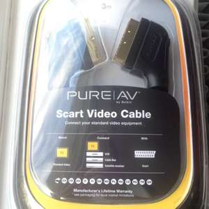 Quality 3m scart lead by Belkin £1 @ Poundland