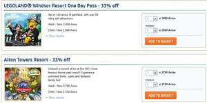 33% off AVIOS Theme Park Tickets