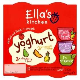 Ella's Kitchen Strawberry+Pear & Pineapple+Mango Yogurt From 6+ Months (4 x 85g) was£1.88 now 2 for £2  @ Asda