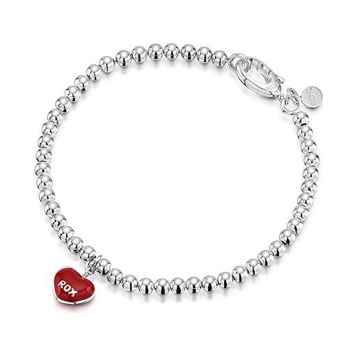 ROX Silver Mini Red Heart Charm Bracelet £21