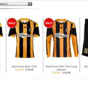 Hull City Shirts £20 + free delivery! @ Hull City Club Shop