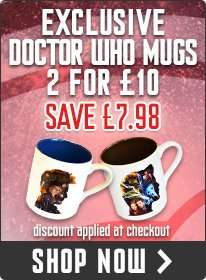 Two Doctor Who mugs for £3.49 instead of £17.98 (incl. P&P) @ BBC Shop