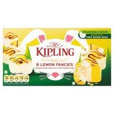 Mr Kiplings  Easter Lemon Fancies  8pk,  75p at Asda