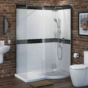 Victoria Plumb complete walk in shower enclosure kit (includes tray & waste) down from £429 to £199 plus Delivery £35