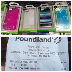 Belkin iPhone 5/5S cases for £1 at Poundland