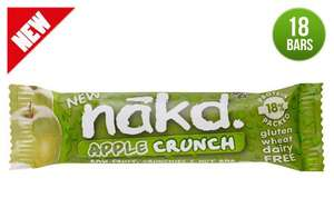 Nakd Apple/Banana crunch bars down to 18p each (was 75p) at Tesco