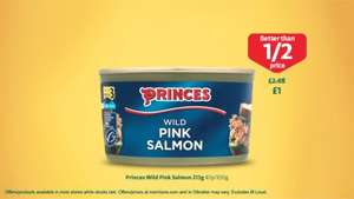 Princes Wild Pink Salmon £1 @ Morrisons