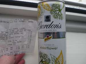 Gordon's Gin & Tonic with Elderflower 250ml can 99p @ Home Bargains