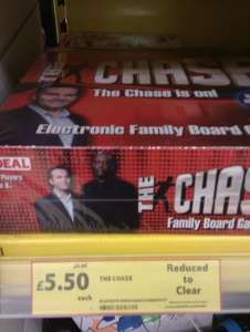 The Chase Electronic Board Game, was £23, now £5.50 @ Tesco