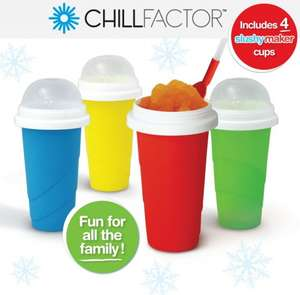 Chill Factor Squeeze Cup Slushy Maker 4 pack Asda £38.97