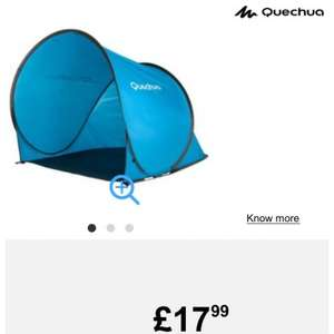 Quechua 2 second pop up sun / wind / rain shelter (orange or blue) £17.99 in decathlon or £21.98 delivered (eBay / amazon £35 + postage)