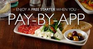 Free Antipasto starter at Prezzo when you use Prezzo app + pay with Paypal