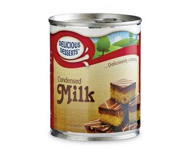 delicious desserts condensed milk 397g tin at aldi from tomorrow