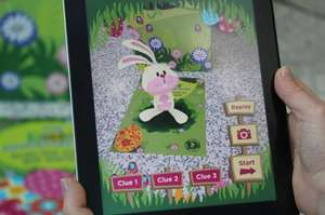 Easter Bunny hunt in Asda using an app for free gift on Sat 12th April 2014