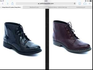 Ladies Real Leather, ex-branded, boots, £5, plus 4.75 postage @ Justfor5pounds