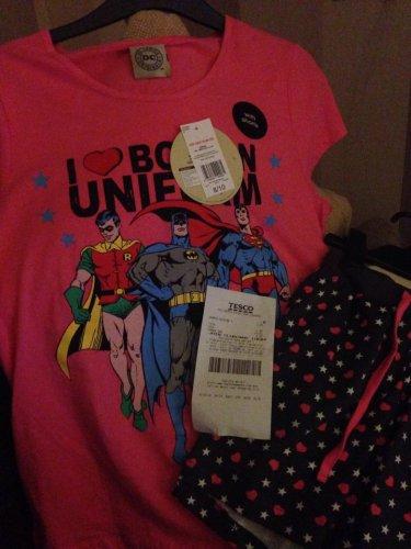 DC Comics Womens Pyjamas, £1 instore @ Tesco