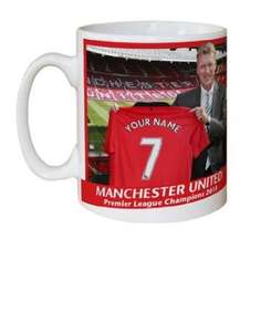 Man United David Moyes Mug personalised £9.75 @ Amazon and sold by Nuts About Sport.