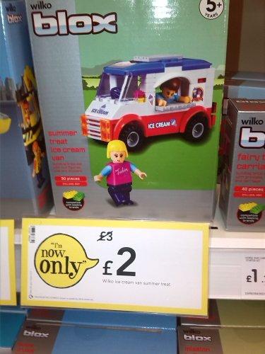 Various WILKO BLOX (Like Lego) Build Brick Sets Reduced eg Ice Cream Van now £2 instore @ Wilkinson