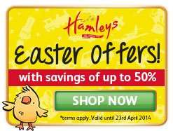 Save up to 50℅. On toys at Hamleys