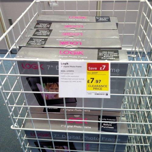 """Logik 7"""" Digital Photo Frame £7.97 instore at  Currys"""