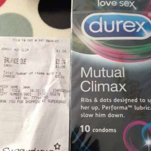 Durex Mutual Climax Condoms - 10pack - Superdrug Clearance @ £1.04