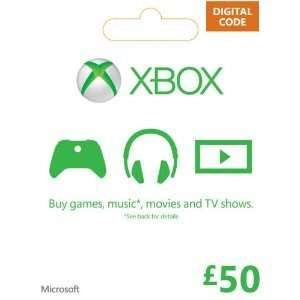 £50 Xbox Live Credit + £5 Bonus Credit (£44.86 @ Amazon) - Works on Xbox 360/One