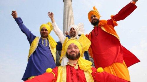 Vaisakhi in London 2014 4th May Trafalgar Square celebrating Sikh formation day