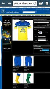 Everton FC 2013/2014 away shirt £15 plus £4.95 postage (or free collect) at Everton club shop
