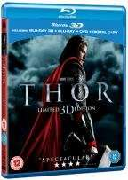 Thor [Blu-ray 3D Edition + 2D Edition + DVD + UV Copy] only £5.49 delivered @ Hive