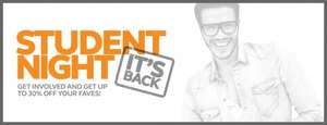 Student Night giving up to 40% off at Lakeside Shopping Centre (Intu)