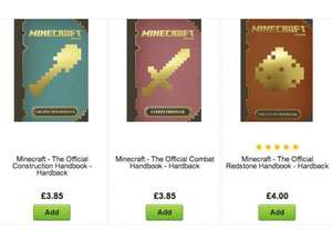 Minecraft - The Official Handbook - Hardback - Construction (£3.85), Combat (£3.85), Redstone (£ 4) @ Asda direct