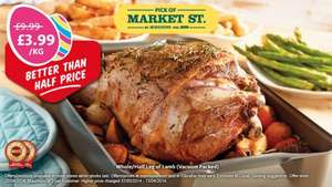 Whole/Half Leg of Lamb £3.99kg @ Morrisons (Perfect for The Easter Bank Holiday)