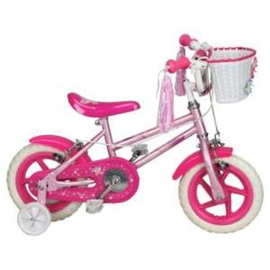 "Sparkle & Glitz 12"" kids bike with stabilisers £15 @ Tesco direct"