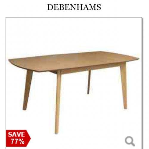 Oak Dining Table £120 down from £540 @ Debenhams