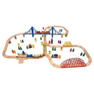 ** Carousel 100 Piece Wooden Train Set now £6 @ Tesco Direct **