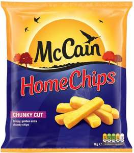 McCains Home Chunky Chips 1KG £1.30 (Half Price) & Birds Eye Potato Waffles 10 (567G) £1.00 @ Morrisons