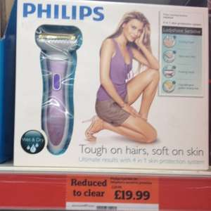 Philips lady shaver was £39.99 now £19.99 @ sainsburys