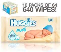 Amazon add on £7.78 case of 10 x huggies pure baby wipes 64 (640 wipes)