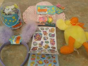 Various Easter craft items. Co-op. £0.25p