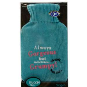 Slogan knitted Hot Water bottle 10p @ B&M