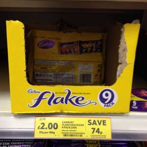 Cadbury Flake (9 x 25g) £2.00 @ Tesco